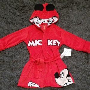 New! Disney Mickey Mouse Robe